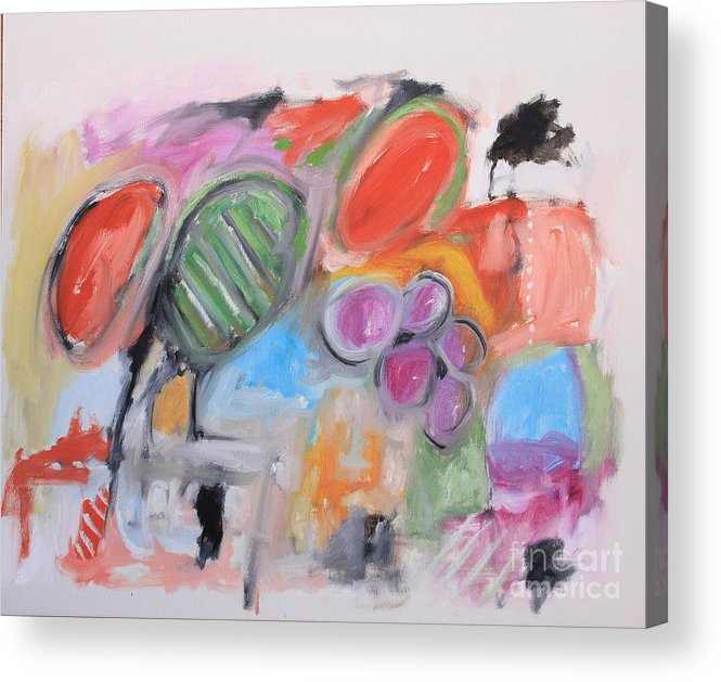 Abstract Acrylic Print featuring the painting Untitled by Michael Henderson