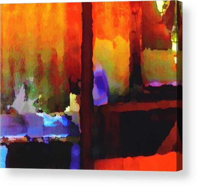 Acrylic Print featuring the digital art abstract from Clothesline by Danielle Stephenson