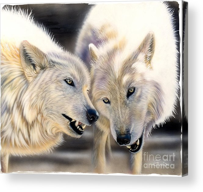 Acrylics Acrylic Print featuring the painting Arctic Pair by Sandi Baker