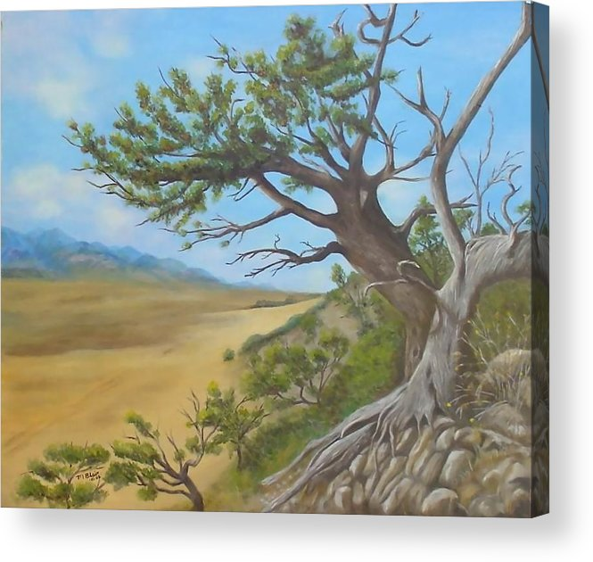 Landscape Acrylic Print featuring the painting At A Tangent by Merle Blair
