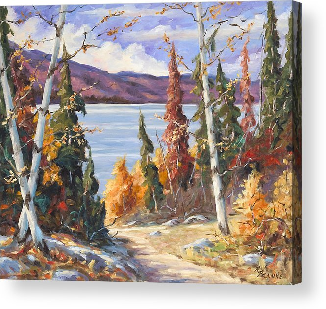 Art Acrylic Print featuring the painting Automn Colors by Richard T Pranke