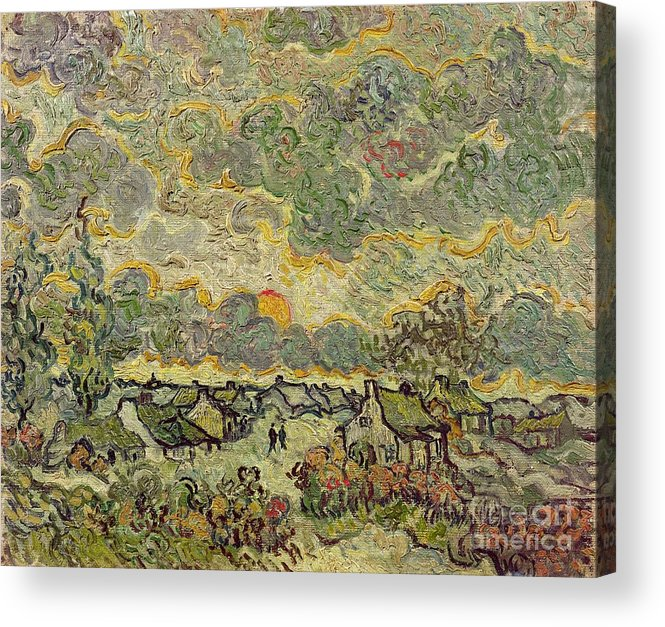 Autumn Acrylic Print featuring the painting Autumn Landscape by Vincent Van Gogh