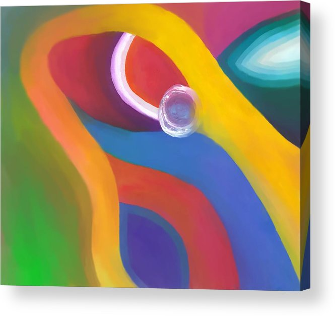 Abstract Acrylic Print featuring the drawing Being Love by Peter Shor