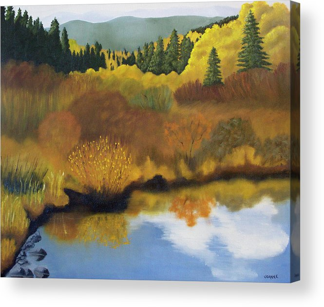 Landscape Acrylic Print featuring the painting Bragg Creek by Joanne Giesbrecht