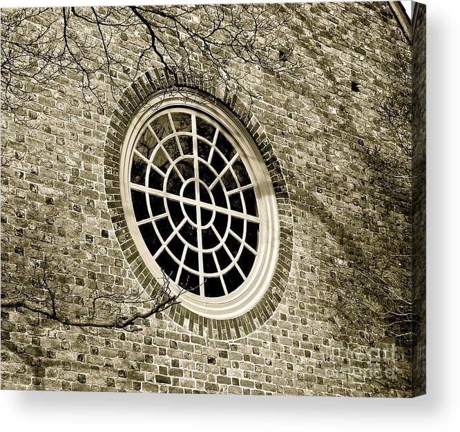 Window Acrylic Print featuring the photograph Church Window And Shadows 2 by E Robert Dee