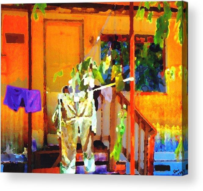 Acrylic Print featuring the digital art Clothesline by Danielle Stephenson