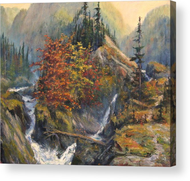 Landscape Acrylic Print featuring the painting Convergence by Craig shanti Mackinnon