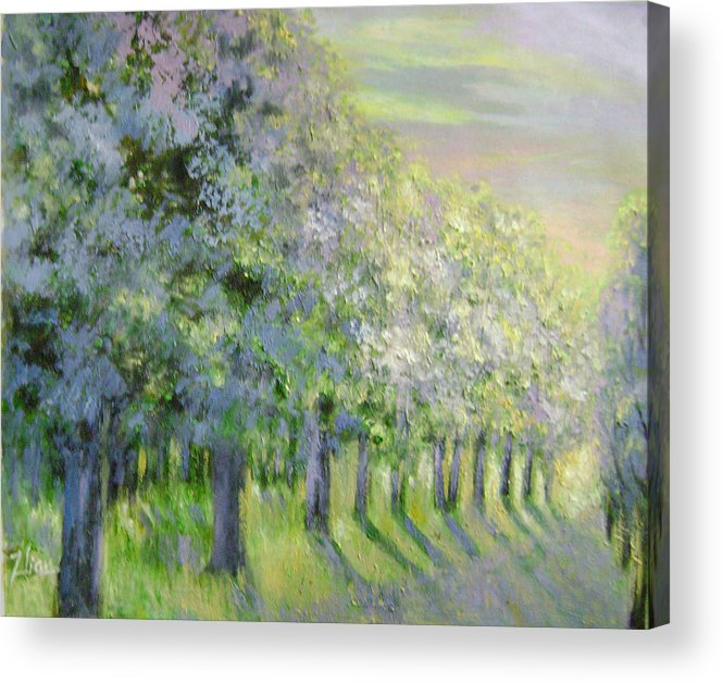 Landscape Acrylic Print featuring the painting Dreamy Trees by Lian Zhen