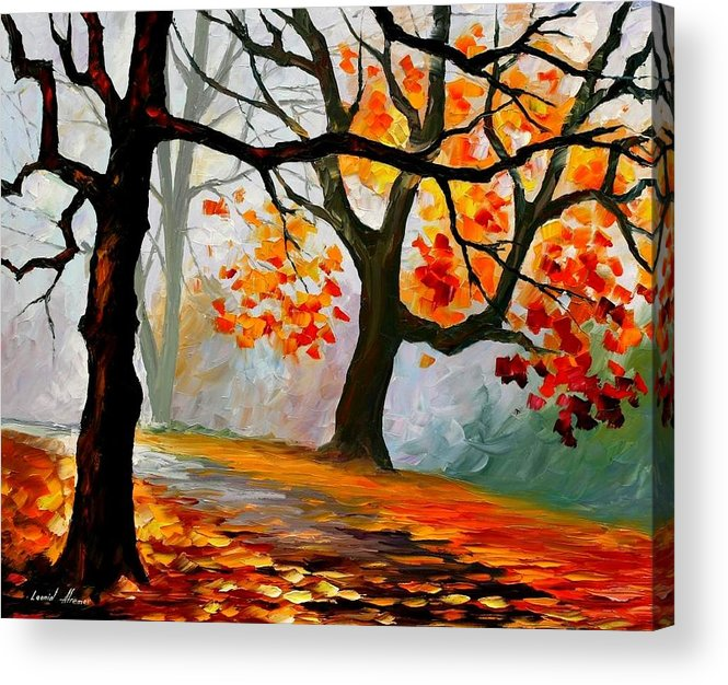Landscape Acrylic Print featuring the painting Interplacement by Leonid Afremov