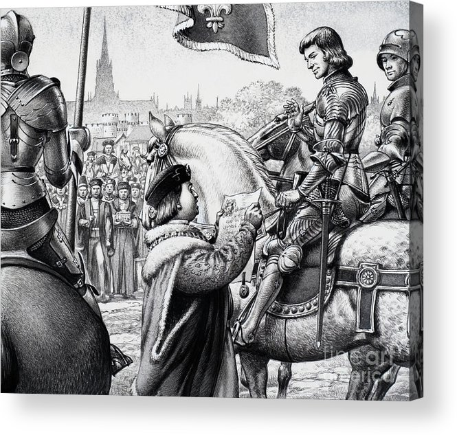 King Henry Vii Acrylic Print featuring the painting King Henry Vii by Pat Nicolle