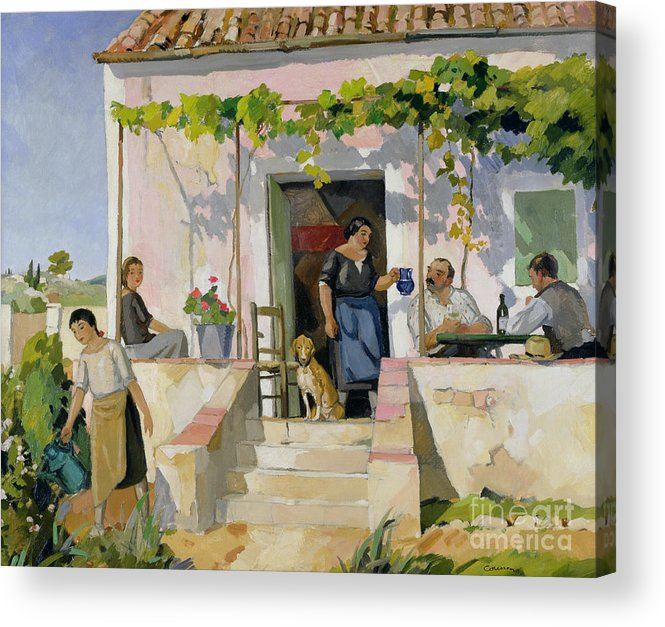 Mazet Acrylic Print featuring the painting Le Mazet by Armand Coussens