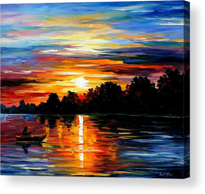 Afremov Acrylic Print featuring the painting Life Memories by Leonid Afremov