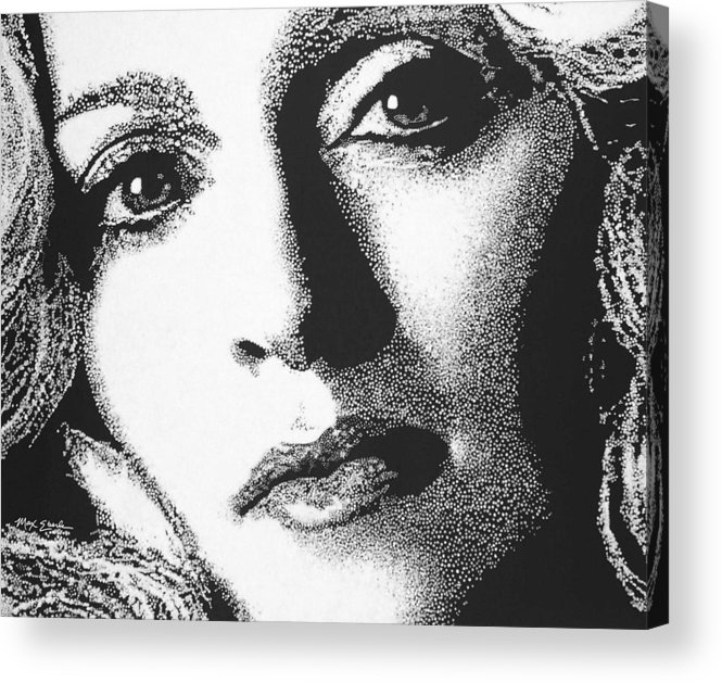 Portrait Acrylic Print featuring the painting Madonna by Max Eberle
