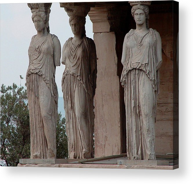 Athens Greece Acrylic Print featuring the photograph Maidens Of The Porch by Nancy Bradley
