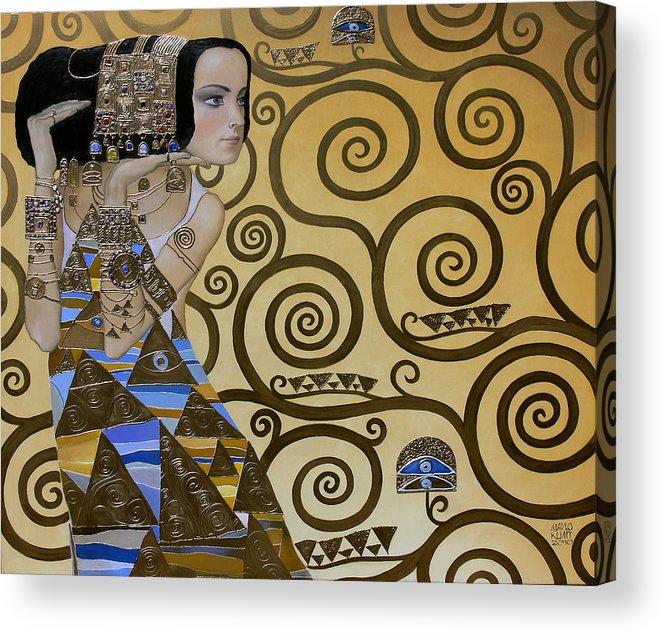 Body Acrylic Print featuring the painting Mavlo - Klimt by Valeriy Mavlo