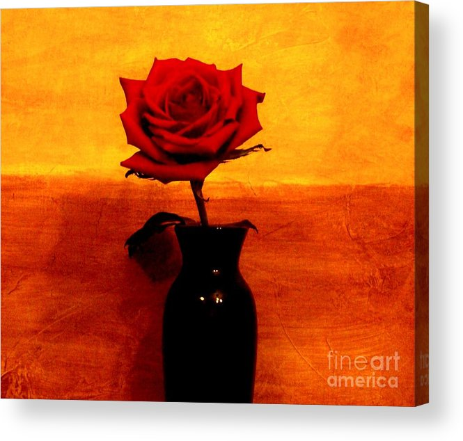 Photo Acrylic Print featuring the photograph Mexicalli Rose by Marsha Heiken