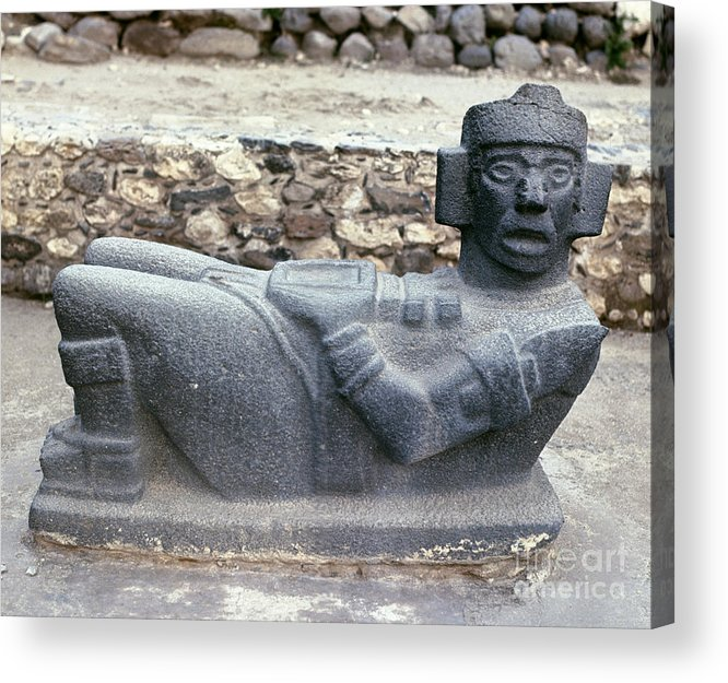 10th Century Acrylic Print featuring the photograph Mexico: Toltec Altar by Granger