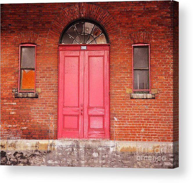 Red Doors Acrylic Print featuring the photograph Montreal Street Photography by Reb Frost