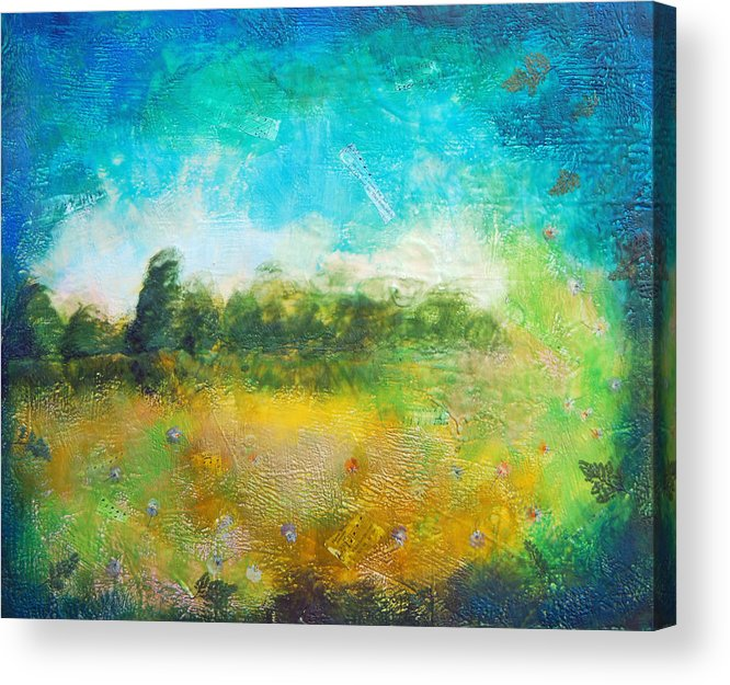 Acrylic Print featuring the painting Mystical Trees by Joya Paul