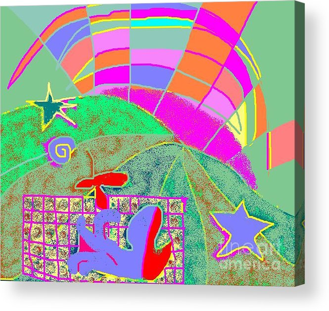 Greeting Card Acrylic Print featuring the digital art Octopus' Garden by Beebe Barksdale-Bruner
