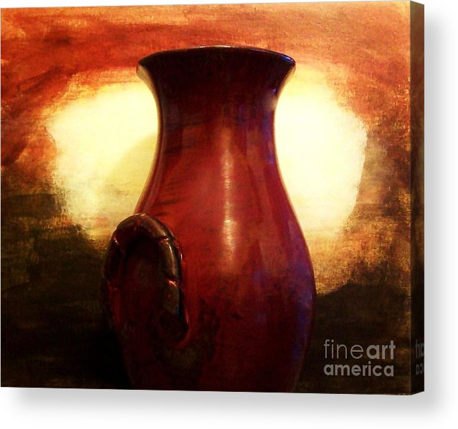 Photo Acrylic Print featuring the photograph Pottery From Italy by Marsha Heiken