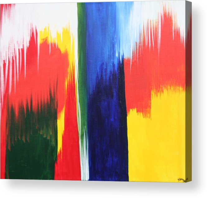 Primary Colors Acrylic Print featuring the painting Primary Colors by Shiree Gilmore