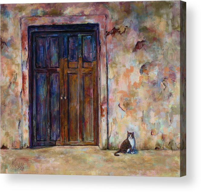 Doorway Acrylic Print featuring the painting Siesta by Billie Colson