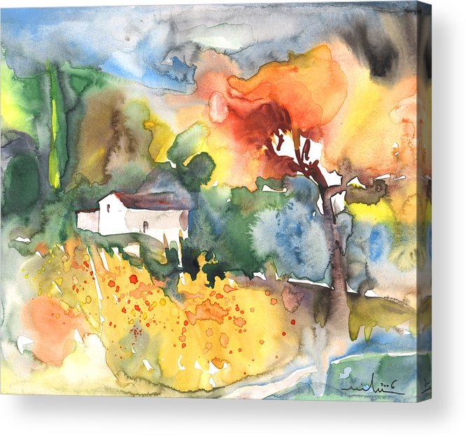 Watercolour Acrylic Print featuring the painting Summer Afternoon by Miki De Goodaboom