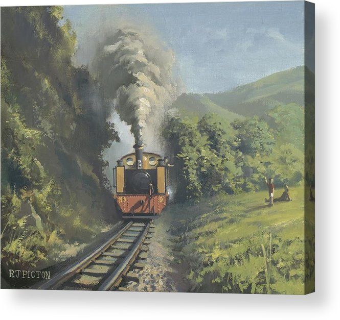 Steam Acrylic Print featuring the painting The Vale Of Rheidol Railway by Richard Picton