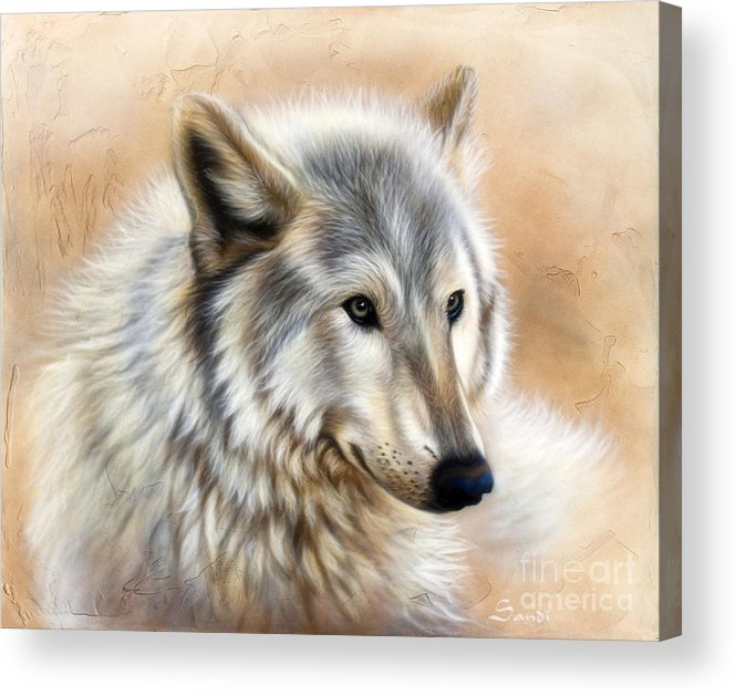 Acrylic Acrylic Print featuring the painting Trace by Sandi Baker