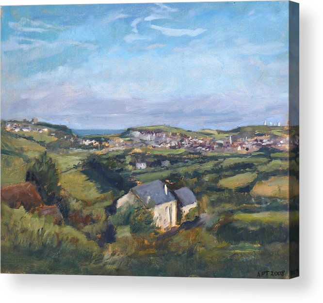 Redone Acrylic Print featuring the painting View Of Bude In Cornwall by Andrew Taylor