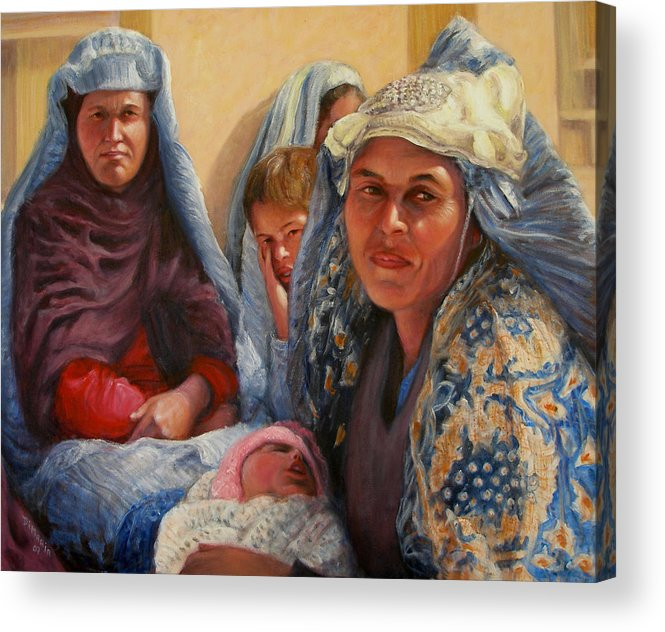 Realism Acrylic Print featuring the painting Women Of War by Donelli DiMaria