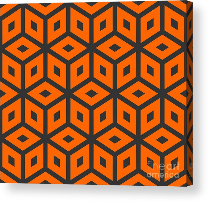 Delicate Acrylic Print featuring the digital art Abstract Retro Pattern. Vector by Artsandra