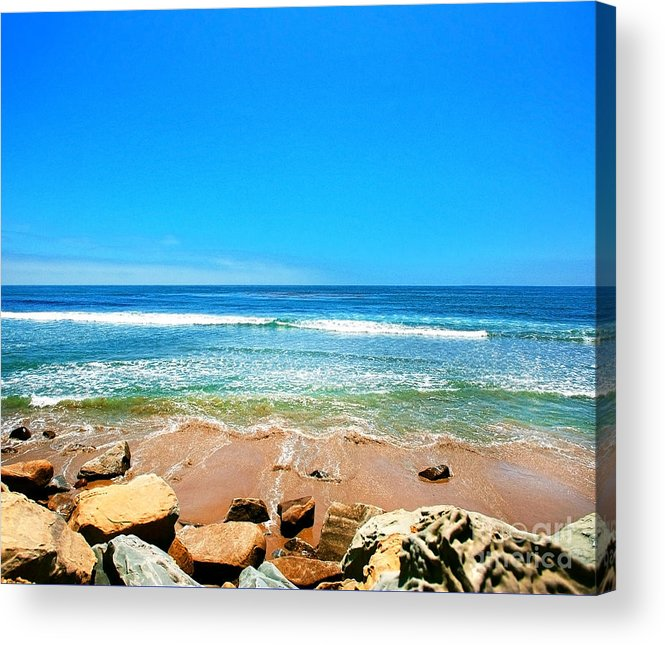 Rincon Acrylic Print featuring the photograph Along The Rincon California Surf Spot From The Book My Ocean by Artist and Photographer Laura Wrede