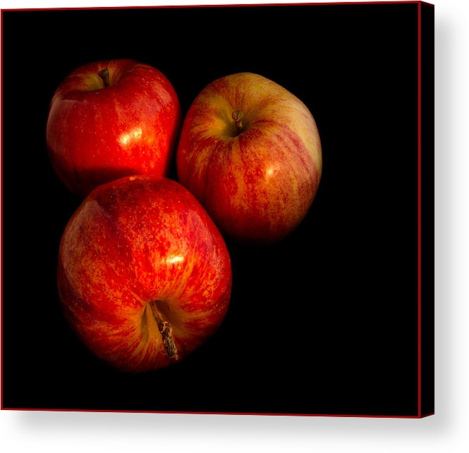 Apple Acrylic Print featuring the photograph Apple Trio by Jean Noren