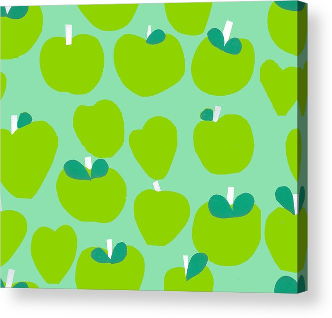 Apples Acrylic Print featuring the painting Apples by Samantha Barnes
