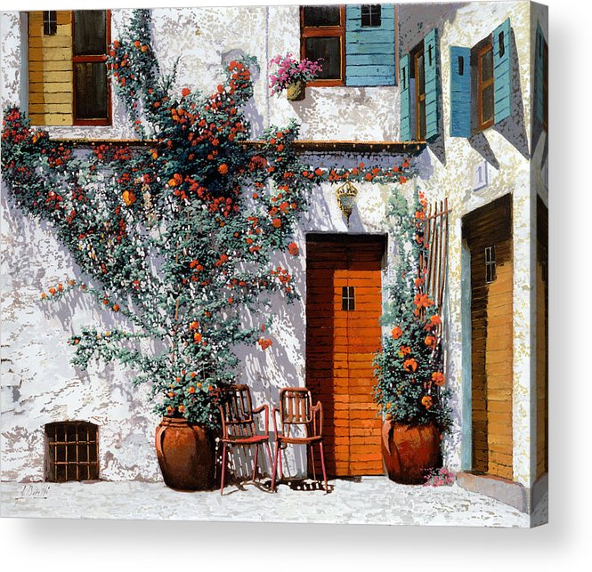 Courtyard Acrylic Print featuring the painting Il Cortile Bianco by Guido Borelli