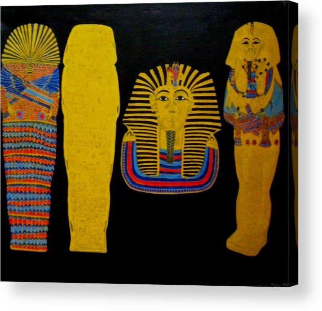 Egypt Acrylic Print featuring the painting King Tut by Leslye Miller