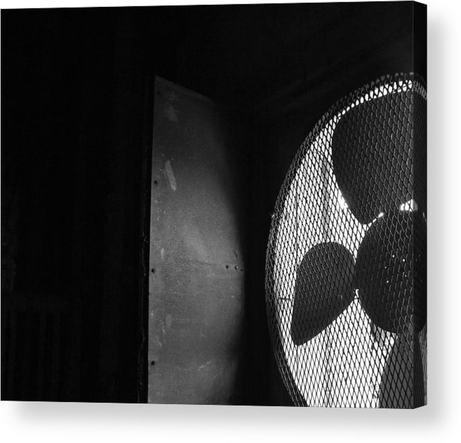 No Acrylic Print featuring the photograph No A/c Bw by Elizabeth Sullivan