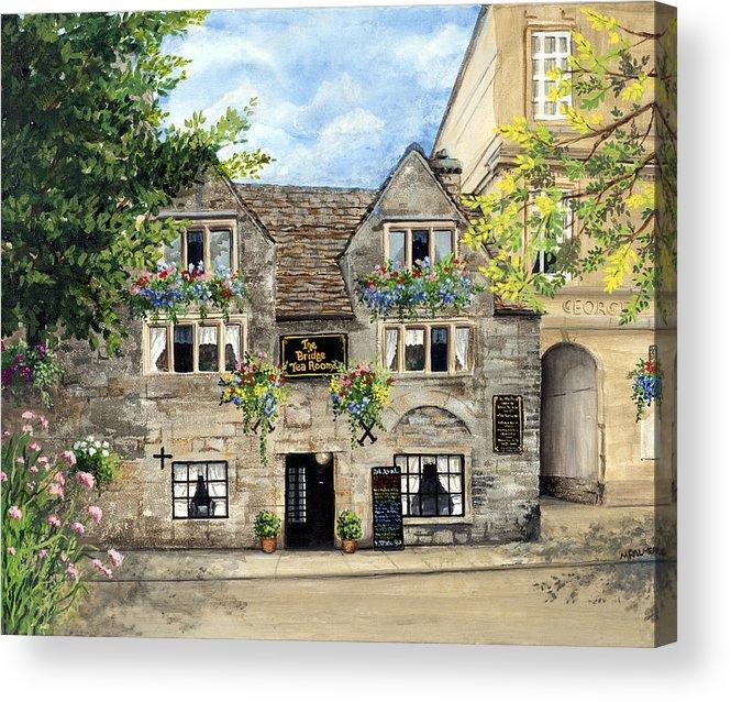 The Bridge Tea Rooms Acrylic Print featuring the painting The Bridge Tea Rooms by Mary Palmer