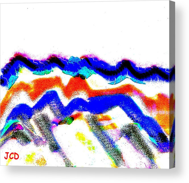 Abstract Acrylic Print featuring the digital art Waves From Heaven by Jean-Claude Delhaise