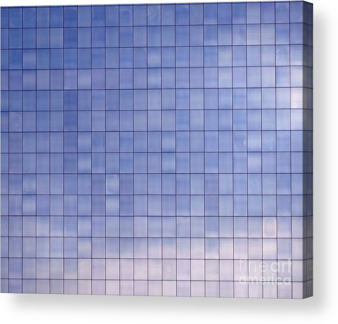 Modern Acrylic Print featuring the photograph Blue Building Facade by Yali Shi