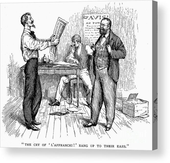 1850s Acrylic Print featuring the photograph Abolitionist Newspaper by Granger