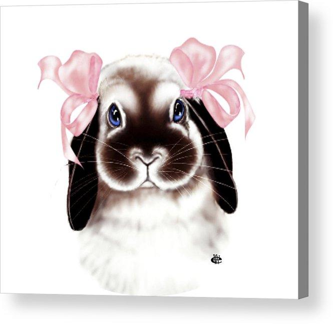 Bunny Acrylic Print featuring the digital art Bunny by Elaine VanWinkle