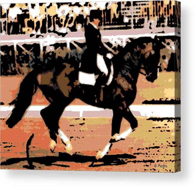 Rider Acrylic Print featuring the photograph Dressage Competition by George Pedro