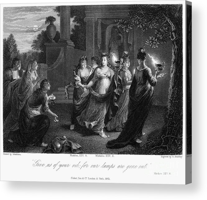 Christianity Acrylic Print featuring the photograph Parable Of Virgins by Granger
