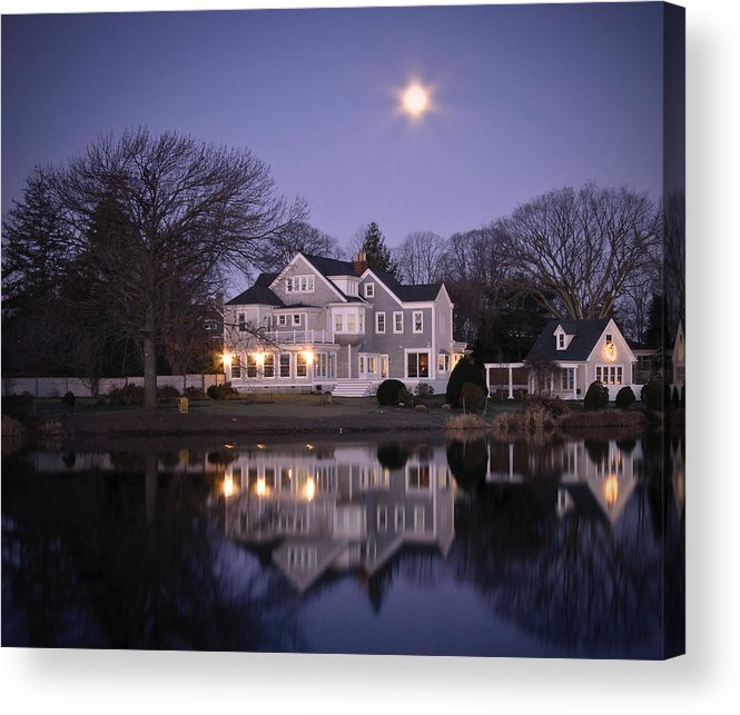 Full Moon Acrylic Print featuring the photograph Victorian Moon In Purple by Vicki Jauron
