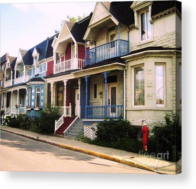 Houses Acrylic Print featuring the photograph Streets Of Montreal by Reb Frost