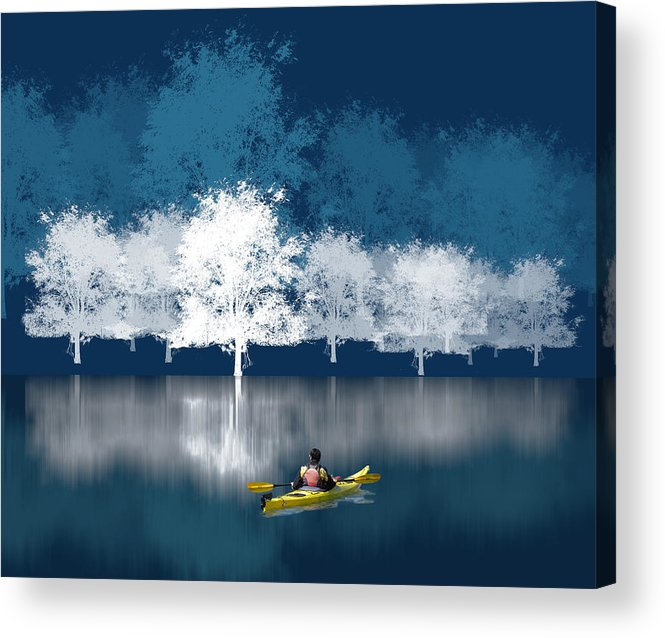 Waterscape Acrylic Print featuring the photograph 1964 by Peter Holme III