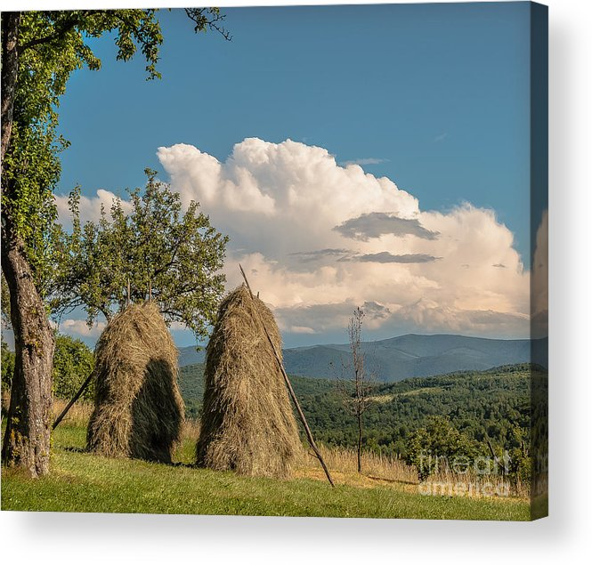 Village Acrylic Print featuring the photograph Sisters by Lyudmila Prokopenko